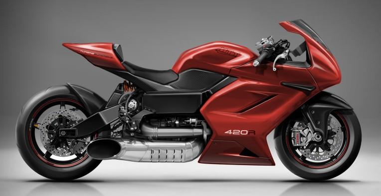 Мотоцикл с двигателем от вертолета