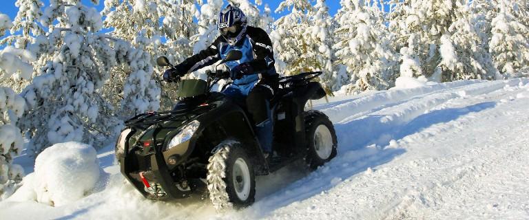 Квадроцикл зимой