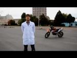 Как тормозить на мотоцикле - Лаборатория  В шлеме