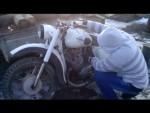 2ой видео обзор мотоцикла иж юпитер 2 (завёлся как новый)))))))))