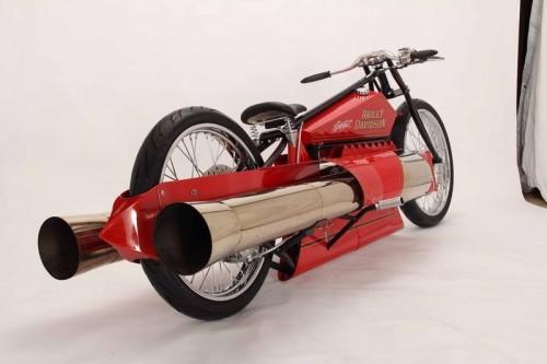 Harley-Davidson с двигателем на реактивной тяге