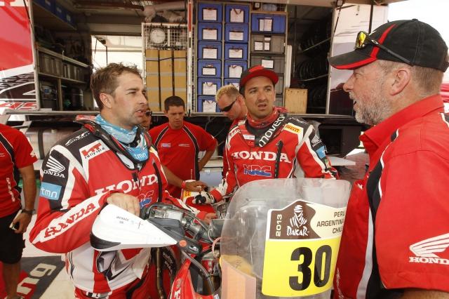 Вторник принес команде Honda удачу.