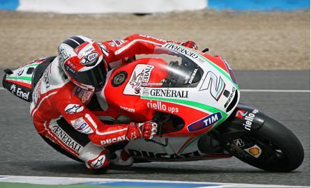 Ducati не далось успешно провести первый день тестов.