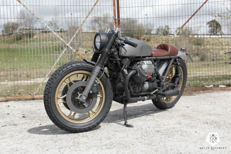 В мастерской  Wrenchmonkees Moto Guzzi 850T4 превратился в Art in Movement