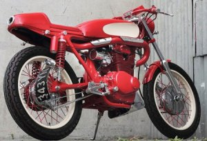 Создан Кастом Honda CB350 Red Rocker