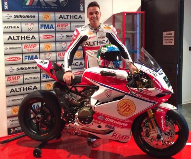 Никколо Канепа  и Althea Ducati готовятся к первому этапу