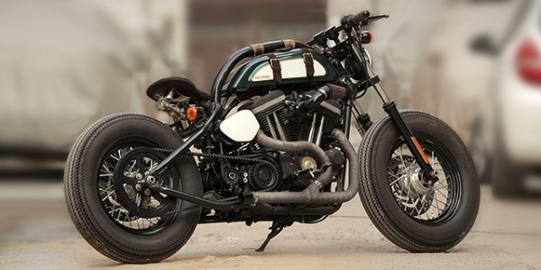 Индиец создал боббер на базе Harley-Davidson 883