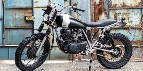 Испанец Санти Гарсия создал стрит-трекер на базе Yamaha SR250