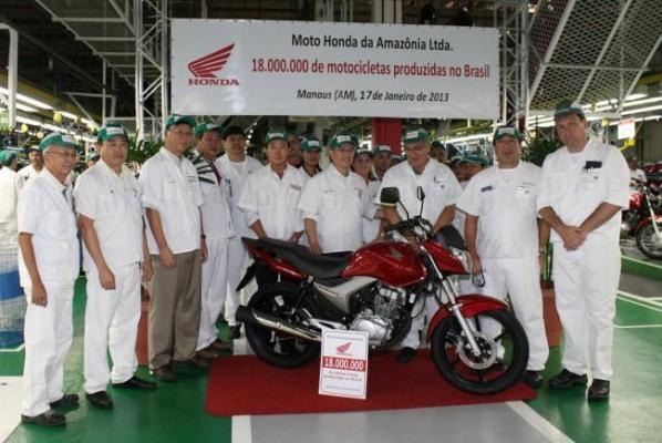 Honda изготовила и реализовала в Бразилии двадцать миллионов своих мотоциклов
