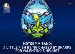 Новый мотошлем «Берегись акул»