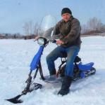 Снегоход из скутера своими руками