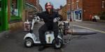 Инженер из Англии создал реактивный скутер для инвалидов
