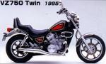 Мотоцикл VZ750 Twin 1985: Эксплуатация, руководство, цены, стоимость и расход топлива