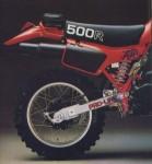 Информация по эксплуатации, максимальная скорость, расход топлива, фото и видео мотоциклов XL500R (1981)