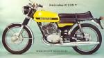 Мотоцикл K 125 T (1973): Эксплуатация, руководство, цены, стоимость и расход топлива
